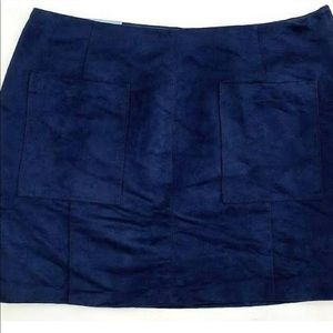 Old Navy Suede Navy Blue Mini Skirt